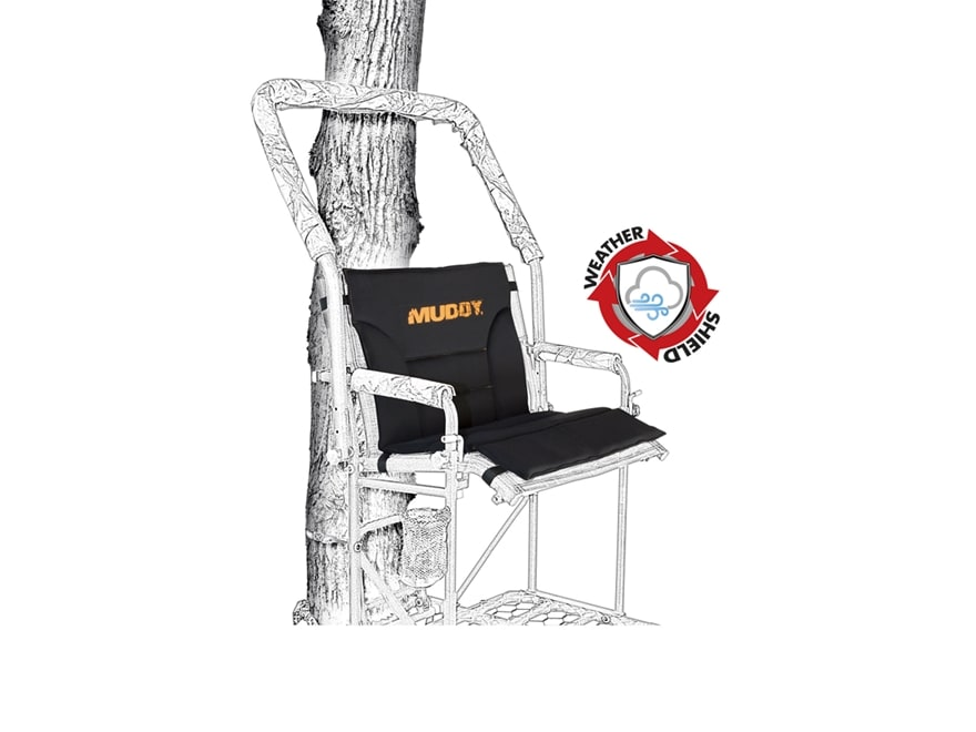 Muddy Outdoors Seat Shield Treestand Seat Black