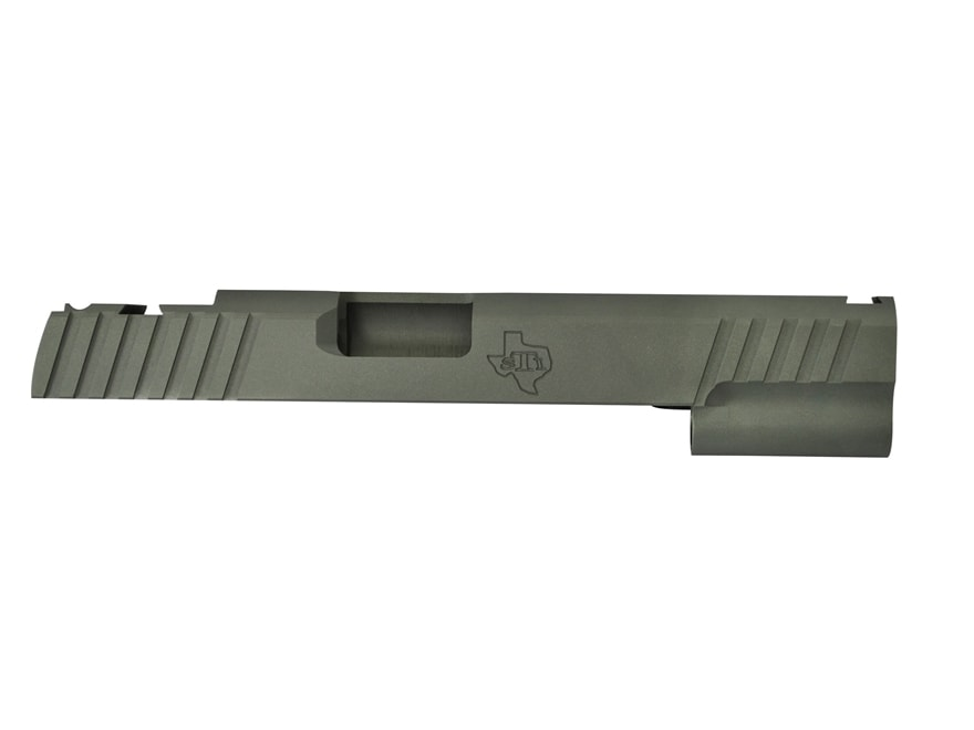 STI Trojan Slide 1911 Government 9mm Luger STI Front Sight Cut and LPA Rear Cut Steel i...