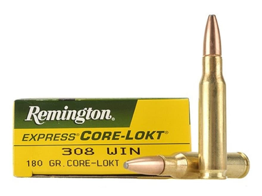 Remington Express Ammunition 308 Winchester 180 Grain Core-Lokt Pointed Soft Point Box ...
