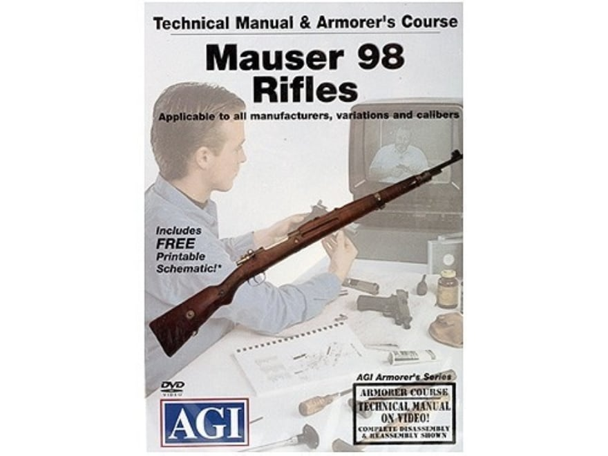 """American Gunsmithing Institute (AGI) Technical Manual & Armorer's Course Video """"Mauser ..."""