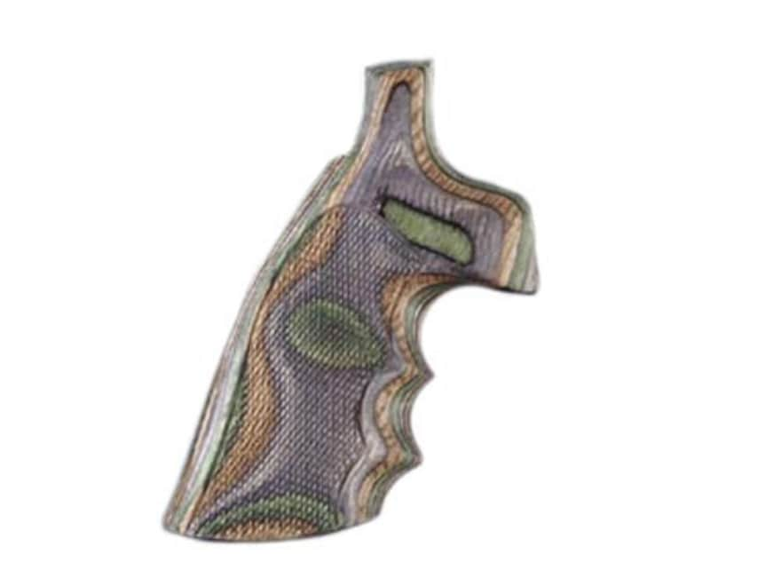 Hogue Fancy Hardwood Grips with Finger Grooves Colt Anaconda, King Cobra Checkered