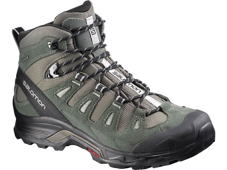 """Salomon Quest Prime GTX 6"""" Waterproof GORE-TEX Hiking Boots Leather/Synthetic Men's"""