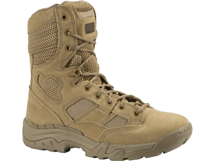 """5.11 Taclite 8"""" Tactical Boots Leather and Nylon Coyote Men's"""