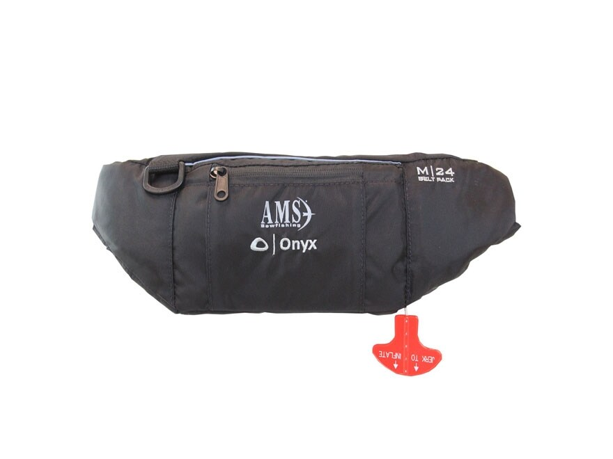 AMS Manual Inflatable Life Belt Personal Flotation Device Black