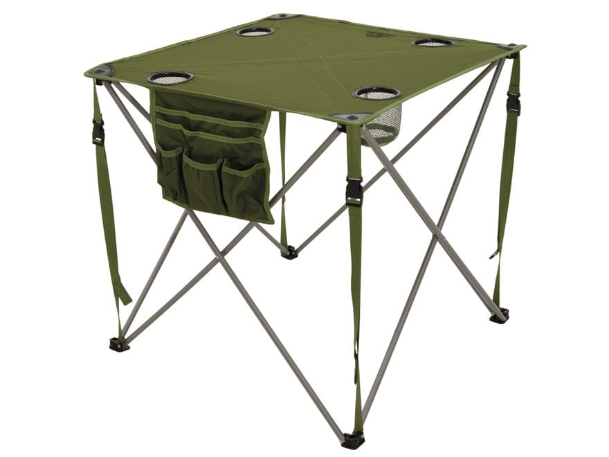ALPS Mountaineering Chip Folding Camp Table Steel and Polyester Green