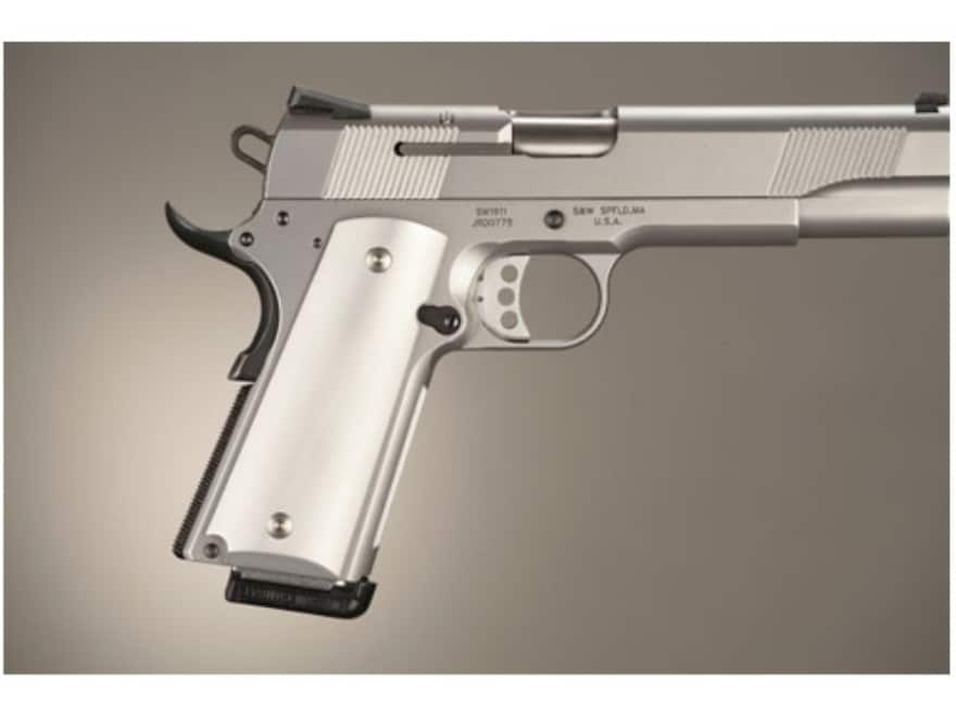 Hogue Extreme Series Grips 1911 Government, Commander Ambidextrous Safety Cut Brushed A...