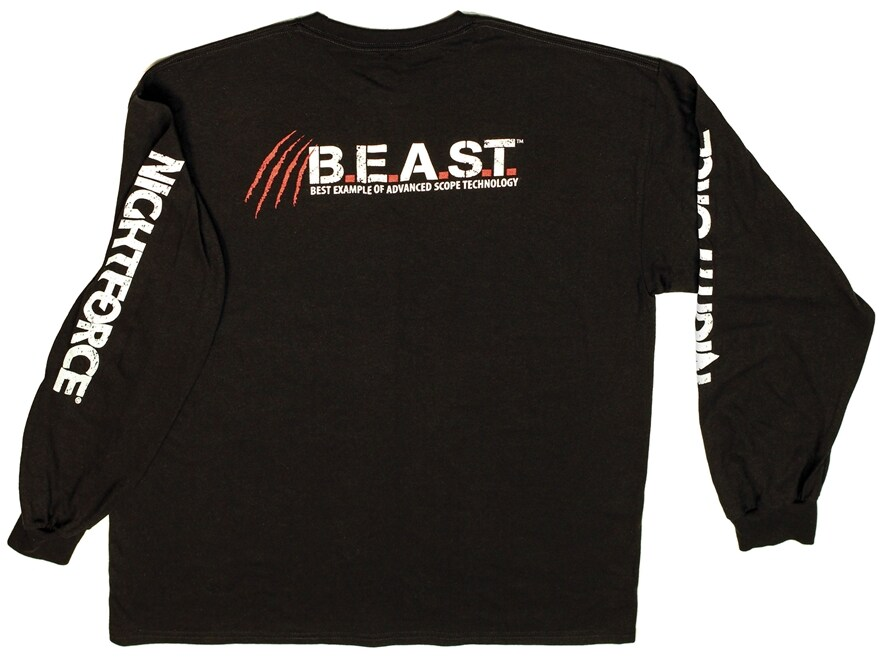 Nightforce BEAST T-Shirt Long Sleeve Cotton Black