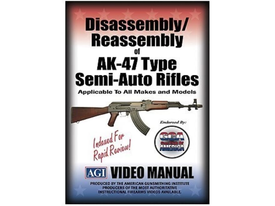 """American Gunsmithing Institute (AGI) Disassembly and Reassembly Course Video """"AKS, MAK9..."""