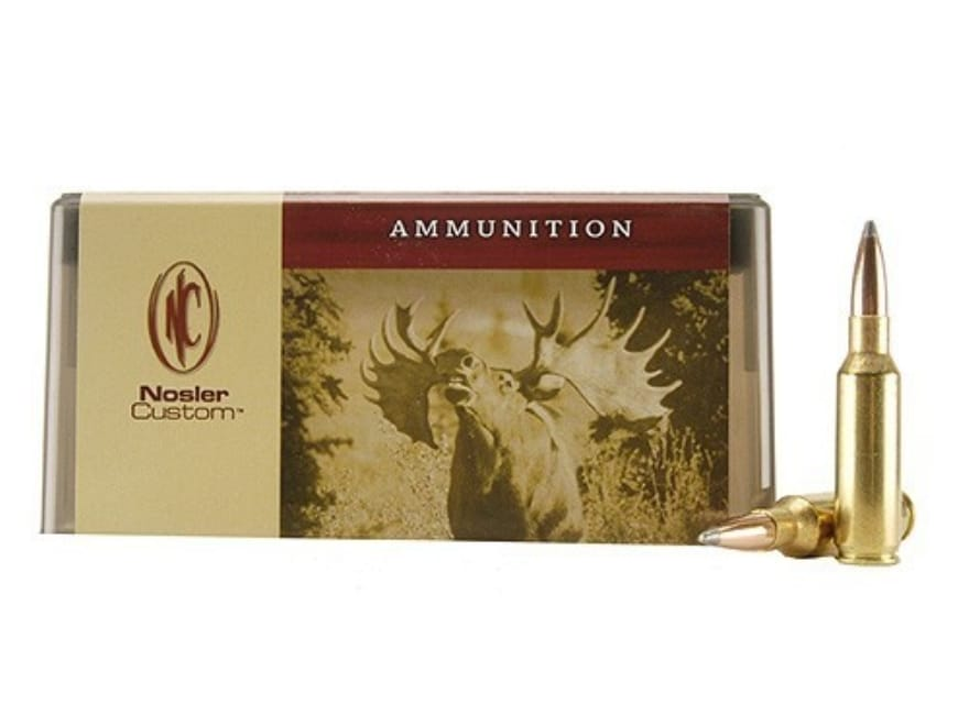 Nosler Custom Ammunition 300 Remington Short Action Ultra Magnum 200 Grain Partition Sp...