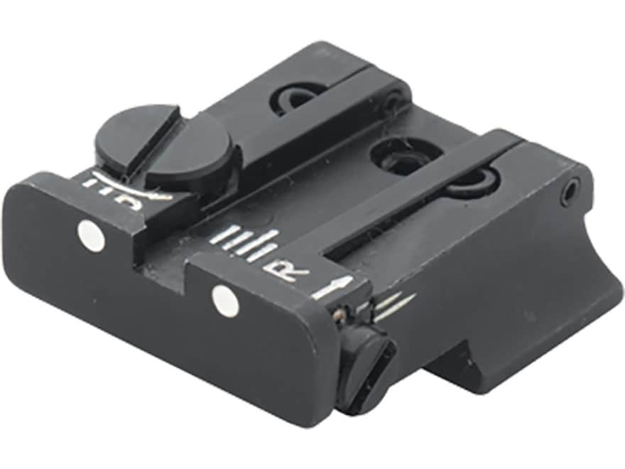 LPA TPU Adjustable Rear Sight S&W SW99, Walther P22, P99 Steel White Dot
