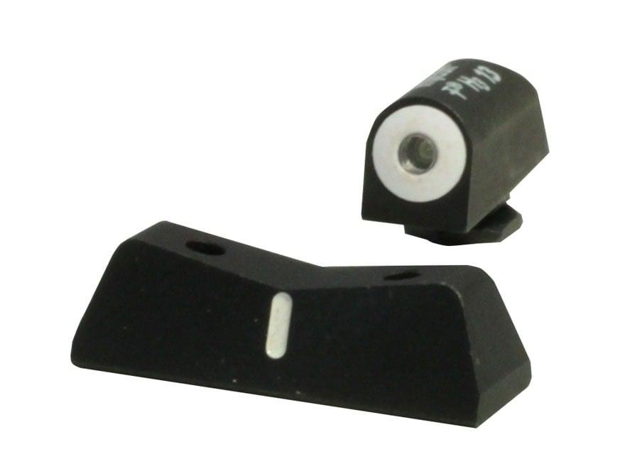 XS DXW Night Sight Set Glock 42, 43 Steel Tritium Big Dot Front White Stripe Rear