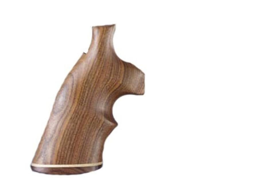 Hogue Fancy Hardwood Grips with Accent Stripe and Top Finger Groove Dan Wesson Small Frame