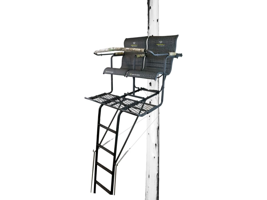 Hawk Denali 18' Double Ladder Treestand Steel Black