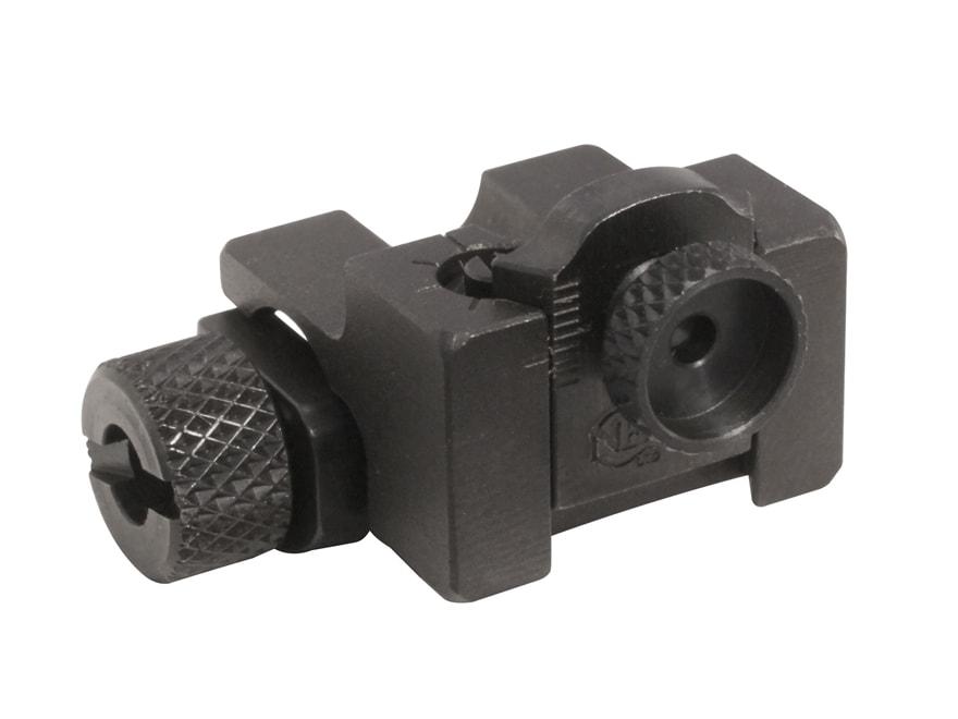 NECG Rear Peep Sight Ruger-Style Base Adjustable Steel Blue