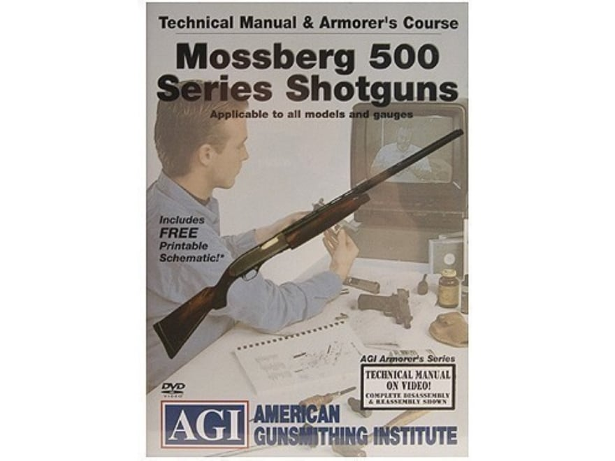 """American Gunsmithing Institute (AGI) Technical Manual & Armorer's Course Video """"Mossber..."""