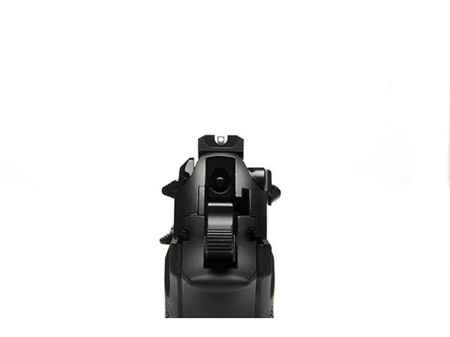 """Wilson Combat Battlesight Rear Sight Serrated Blade Beretta 92FS, 96FS .290"""" Steel Black"""