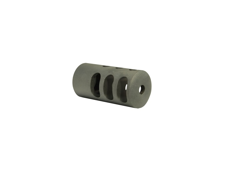 """Holland's Quick Discharge Muzzle Brake 3/4""""-28 Thread .775""""-1.00"""" Barrel Straight Stain..."""