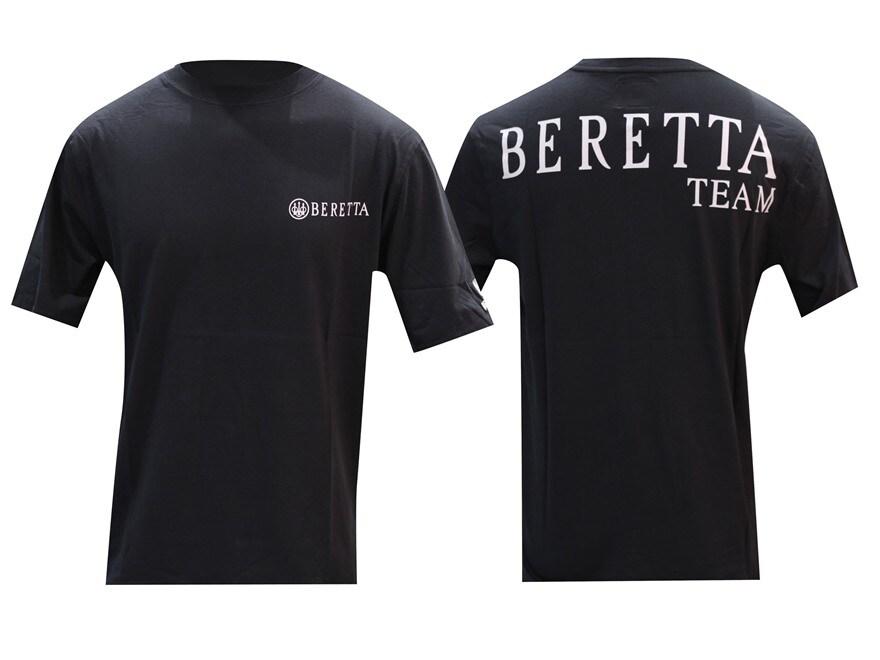 Beretta Team Short Sleeve T-Shirt Cotton Black 2XL