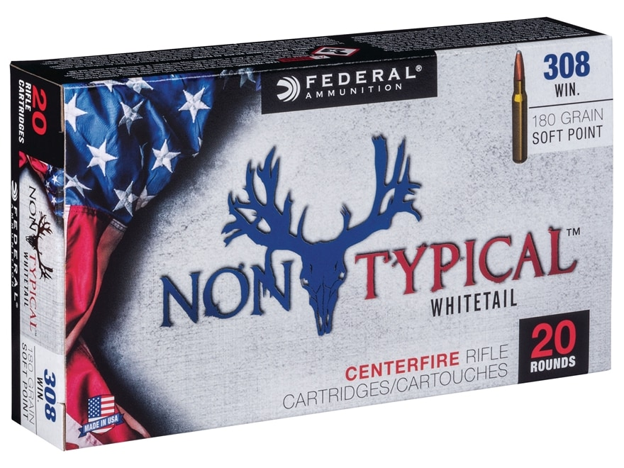 Federal Non-Typical Ammunition 308 Winchester 180 Grain Soft Point Box of 20