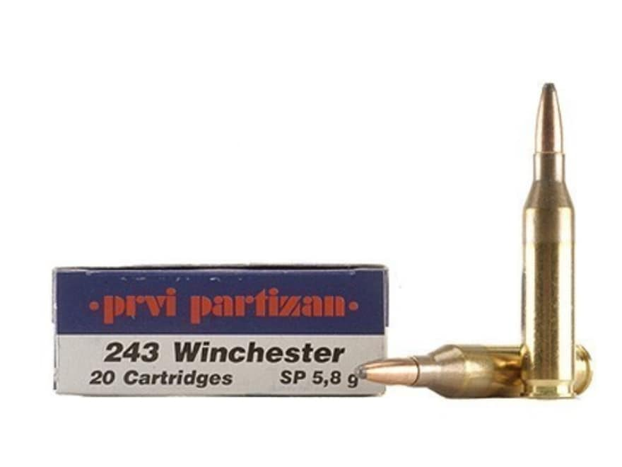Prvi Partizan Ammunition 243 Winchester 90 Grain Soft Point Box of 20