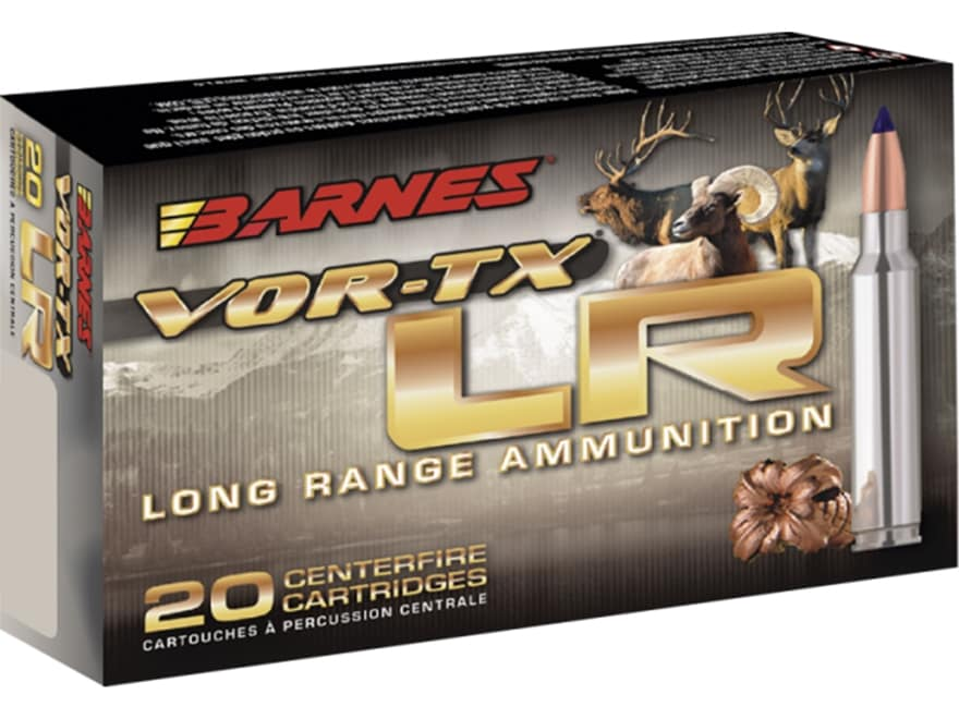 Barnes VOR-TX Long Range Ammunition 7mm Remington Magnum 139 Grain LRX Polymer Tipped B...