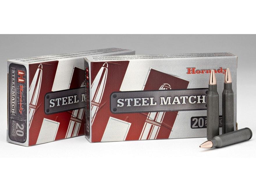 Hornady Steel Match Ammunition 223 Remington 52 Grain Hollow Point Boat Tail Steel Case...