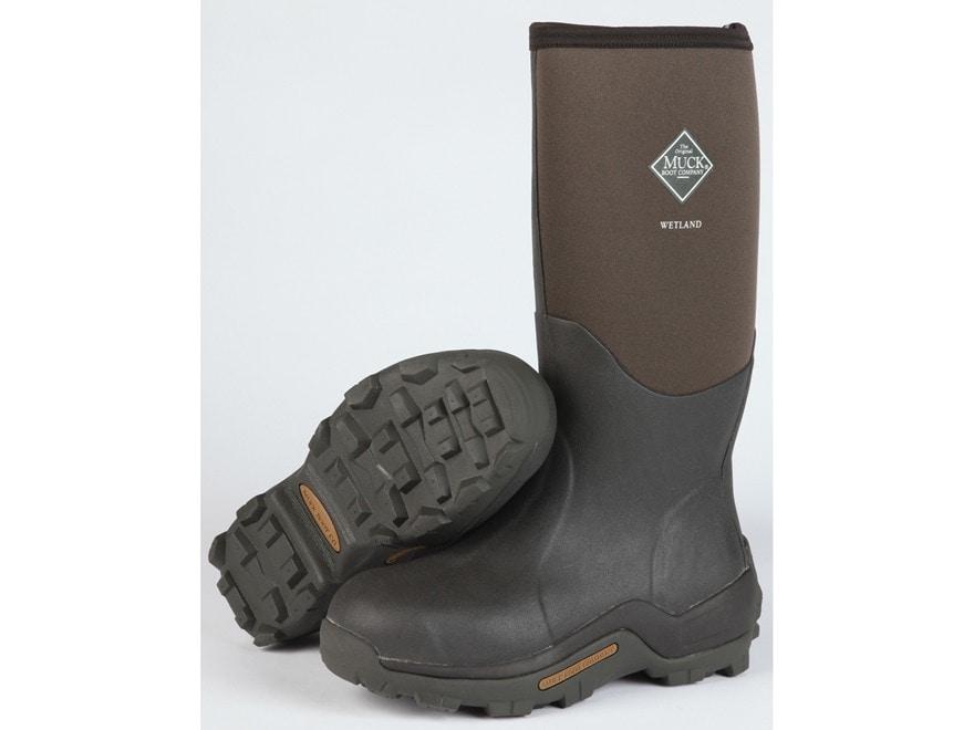 "Muck Wetland 16.5"" Waterproof Insulated Hunting Boots Rubber/Nylon Bark Men's"
