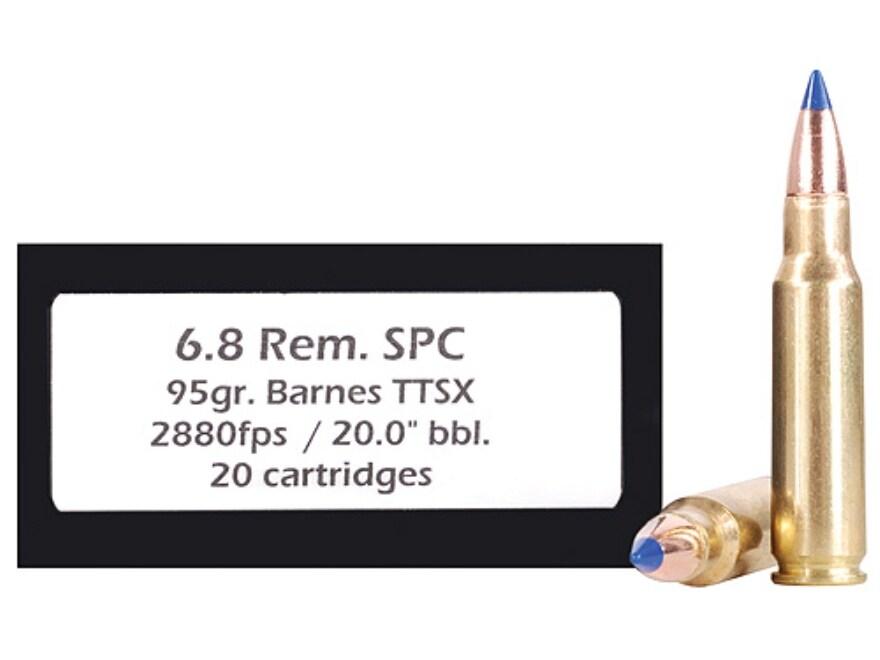 DoubleTap Ammunition 6.8mm Remington SPC 95 Grain Barnes TTSX Polymer Tipped Spitzer Le...