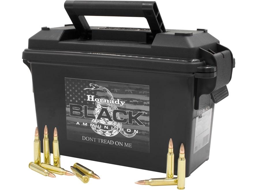 Hornady BLACK Ammunition 223 Remington 62 Grain Full Metal Jacket Ammo Can of 247