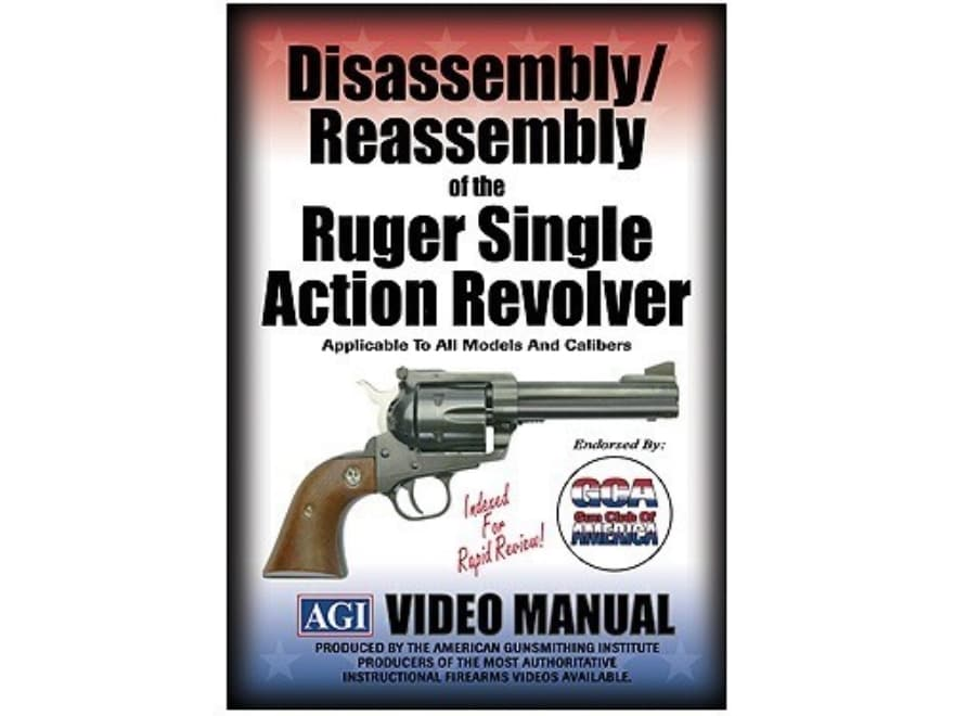 """American Gunsmithing Institute (AGI) Disassembly and Reassembly Course Video """"Ruger Sin..."""