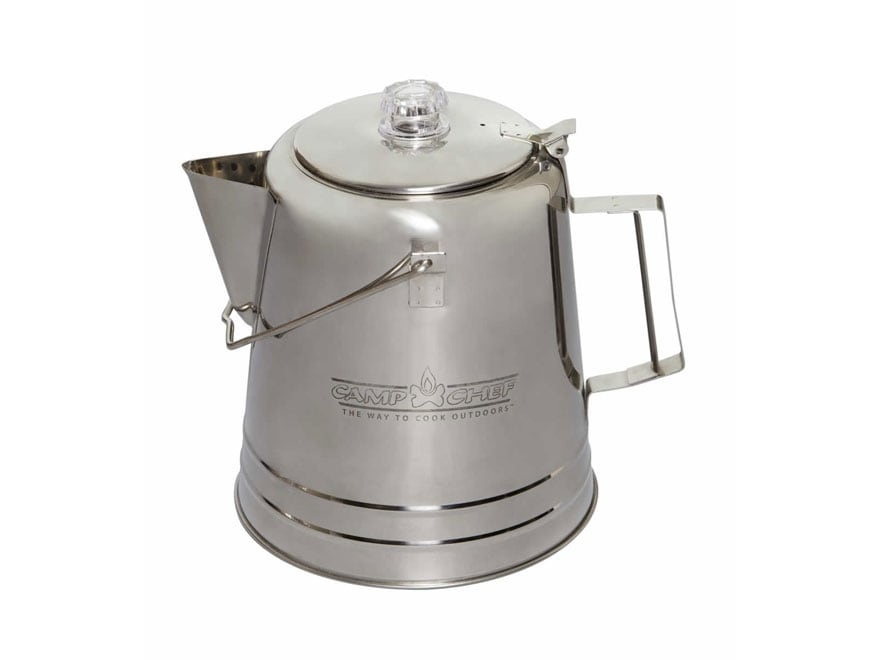 Camp Chef 5.5 Qt Percolator Coffee Pot Stainless Steel
