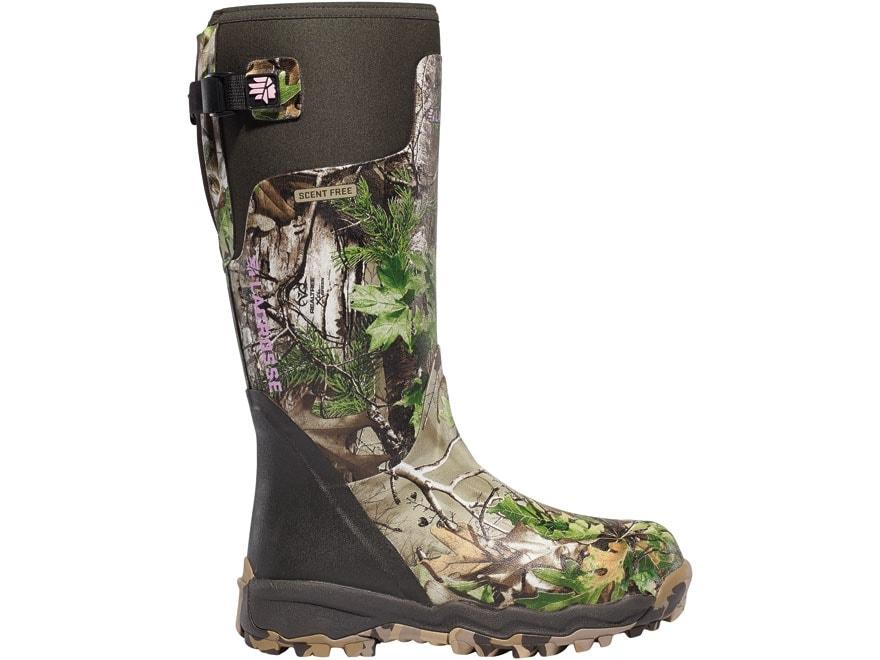 "LaCrosse Alphaburly Pro 15"" Waterproof Hunting Boots Rubber Clad Neoprene Realtree Xtra..."