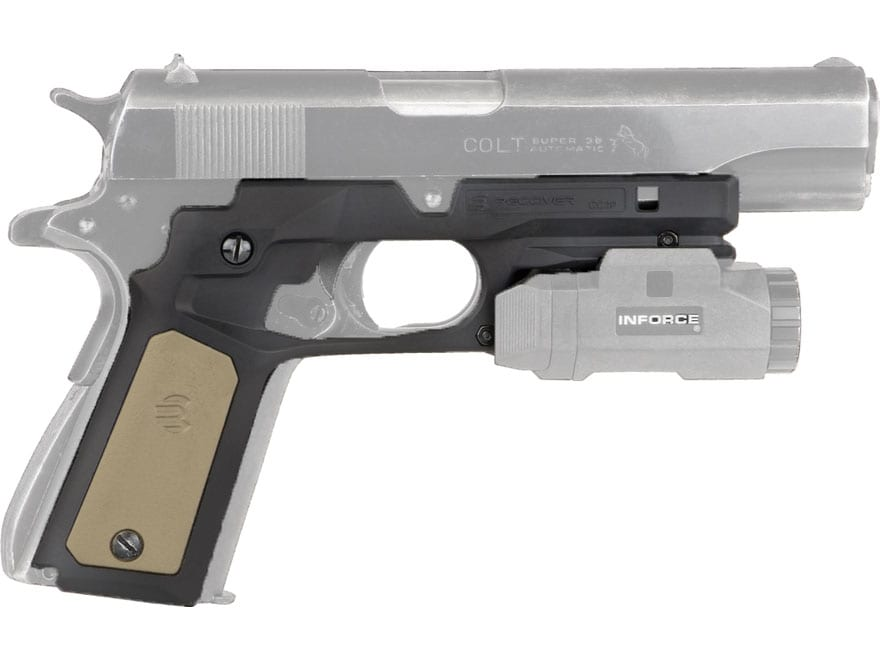 Recover Tactical CC3P Grip and Rail System 1911 Government, Commander Polymer