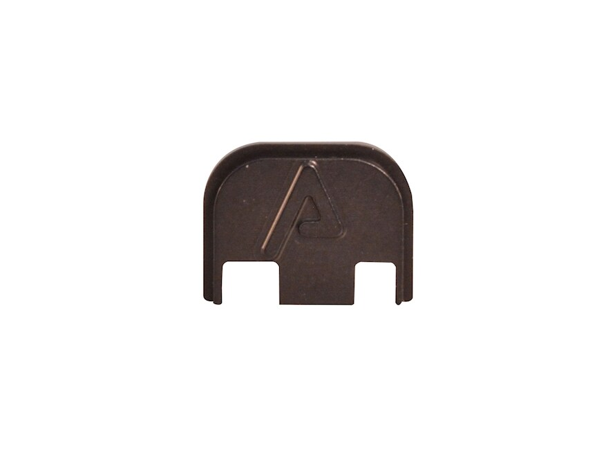 Agency Arms Slide Cover Plate Glock 17, 19 Gen 5 Aluminum Black with Black Logo