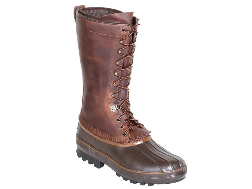 """Kenetrek Grizzly 13"""" Waterproof 400 Gram Insulated Pac Boots Leather/Rubber Brown Men's"""
