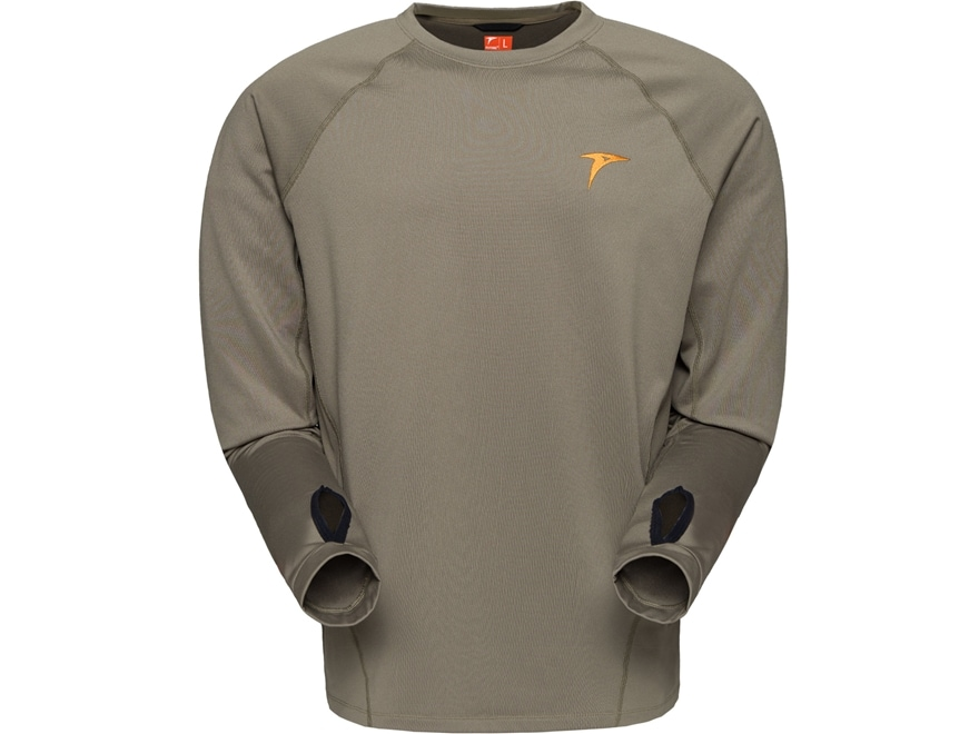 Plythal Men's Base Layer 2.0 Shirt Long Sleeve Polyester Brown Large