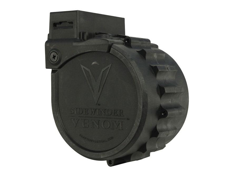 Adaptive Tactical Sidewinder Venom 10-Round Drum Magazine 12 Gauge Polymer Black