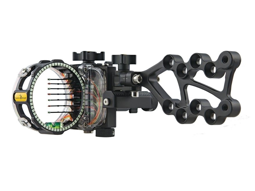 "Trophy Ridge React Pro 7-Pin Bow Sight with Light .010"" Pin Diameter Right Hand Black"
