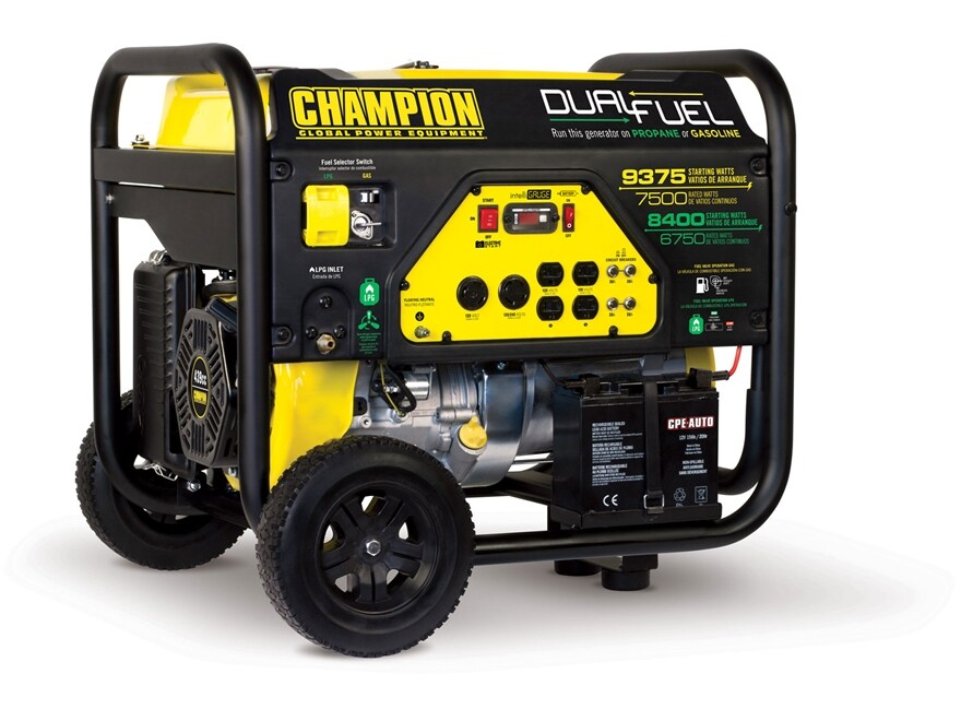 Champion 7500/9375 6750/8400 Watt Dual Fuel Generator