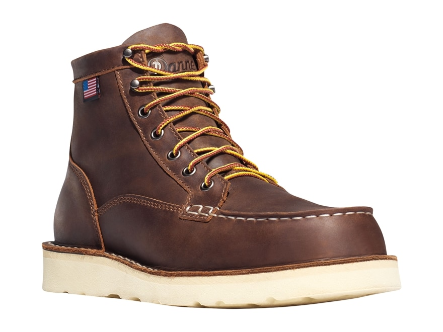 "Danner Bull Run Moc Toe 6"" Steel Toe Work Boots Leather Men's"
