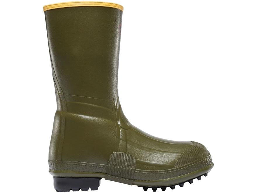 "LaCrosse Burly Air Grip 12"" Waterproof Hunting Boots Rubber OD Green Men's"