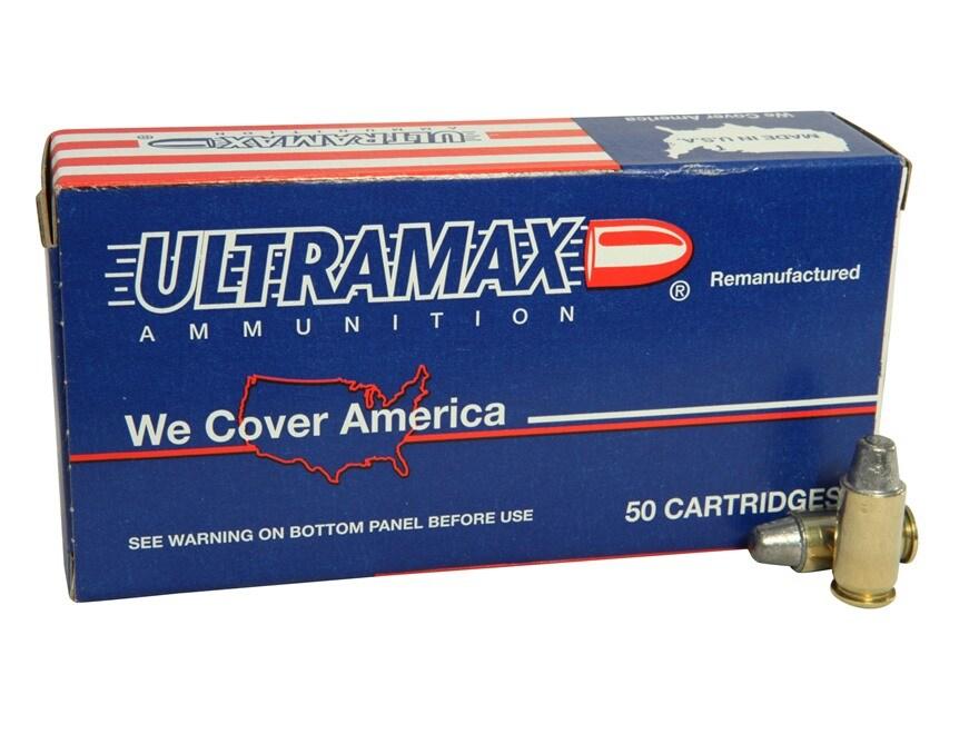 Ultramax Remanufactured Ammunition 45 ACP 200 Grain Lead Semi-Wadcutter Box of 50