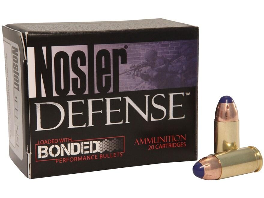 Nosler Defense Ammunition 40 S&W 200 Grain Bonded Tipped Box of 20