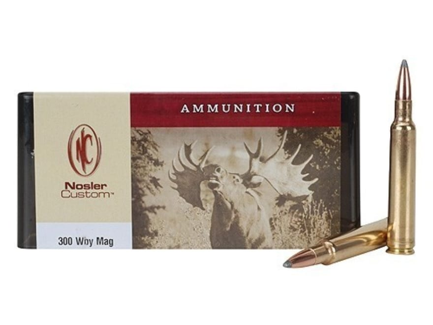 Nosler Custom Ammunition 300 Weatherby Magnum 180 Grain Partition Spitzer Box of 20