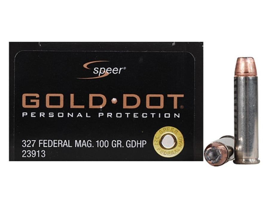 Speer Gold Dot Ammunition 327 Federal Magnum 100 Grain Jacketed Hollow Point