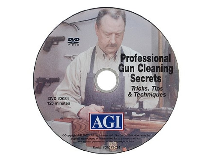 "American Gunsmithing Institute (AGI) Video ""Professional Gun Cleaning Secrets"" DVD"