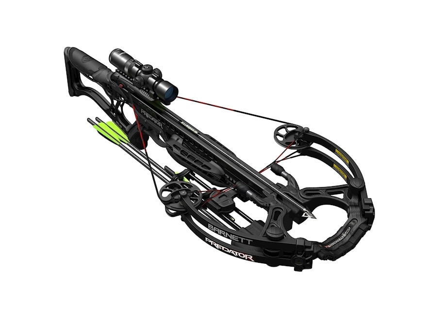 Barnett Predator Crossbow Package with 1.5-5x32 Illuminated Scope Black Razor Camo