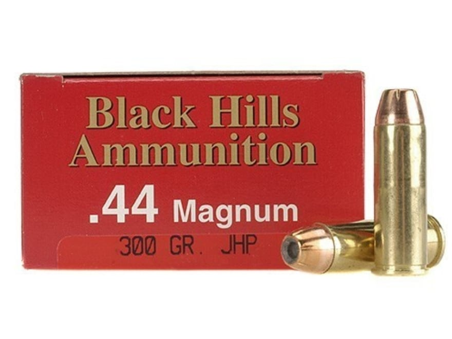 Black Hills Ammunition 44 Remington Magnum 300 Grain Jacketed Hollow Point Box of 50