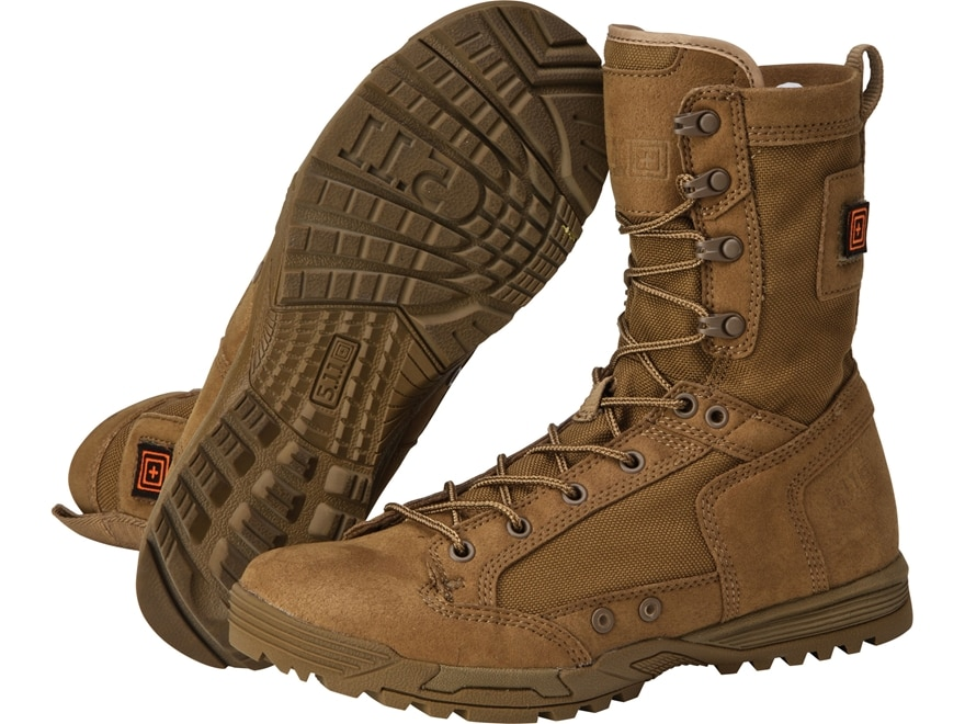 """5.11 Skyweight RapidDry 8"""" Tactical Boots Leather and Nylon Dark Coyote Men's"""