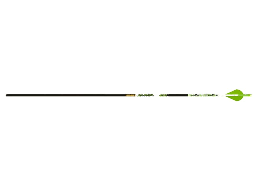 "Gold Tip Name The Game Hunter 300 Carbon Arrow 2"" Vanes Black Pack of 6"